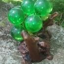Driftwood & Acrylic Grape Sculpture 1960s Green