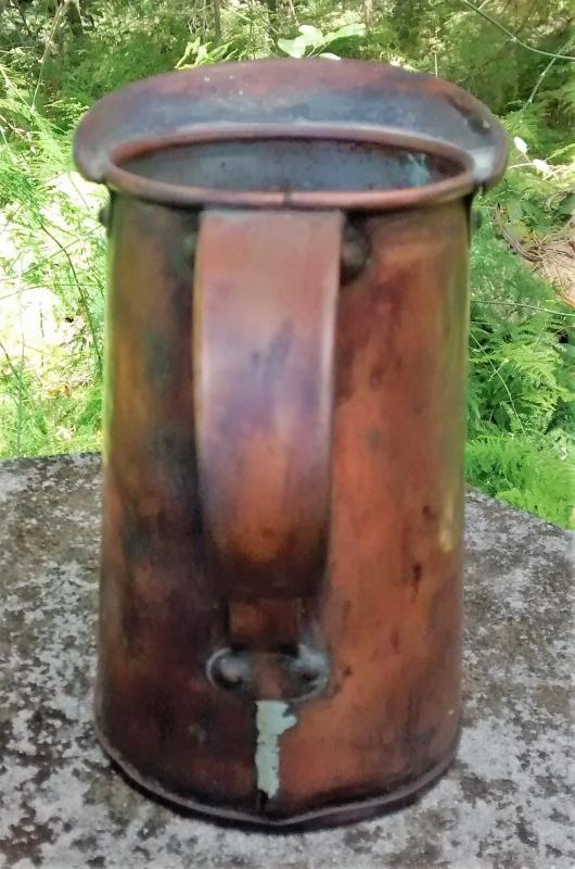 Primitive Copper Measure/Pitcher 1800s 6.5