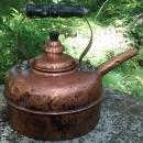 Simplex Copper Whistling Kettle England Early 1900s