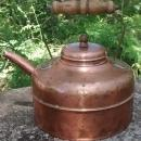 Copper Kettle Vented Lid England Early 1900s