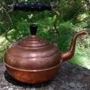 Copper Kettle Brass Handle Gooseneck England Early 1900s