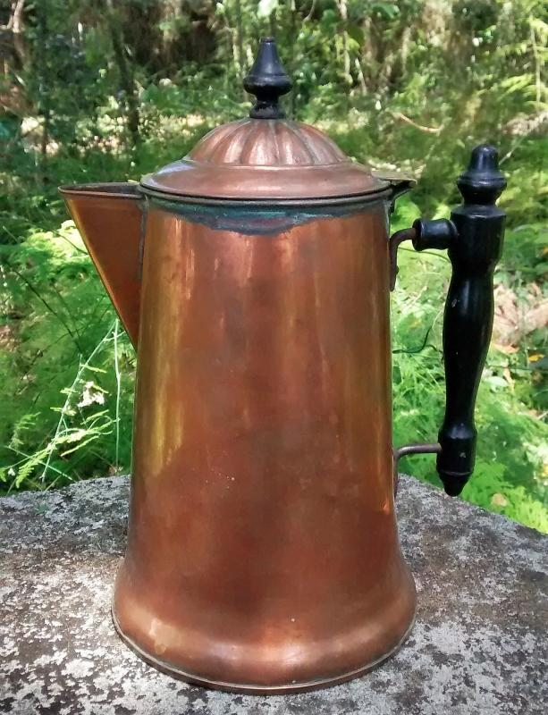 Copper Coffee Pot Rome New York Early 1900s