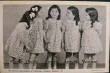 Dionne Quintuplets Postcard #21: Autographed by Midwife