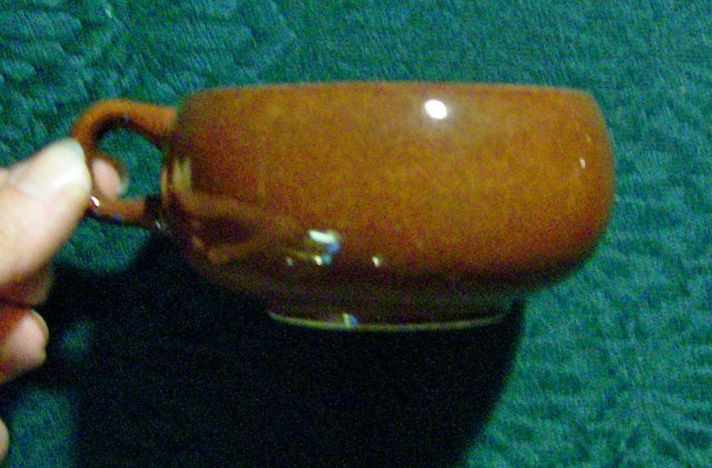 Steubenville/Russel Wright American Modern Ceramic Cup Bean Brown