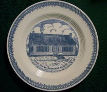 John Stark Edwards House Ceramic Plate: Trumbull Co. Ohio
