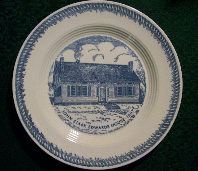 John Stark Edwards House Ceramic Plate: Trumbull Co. Ohio
