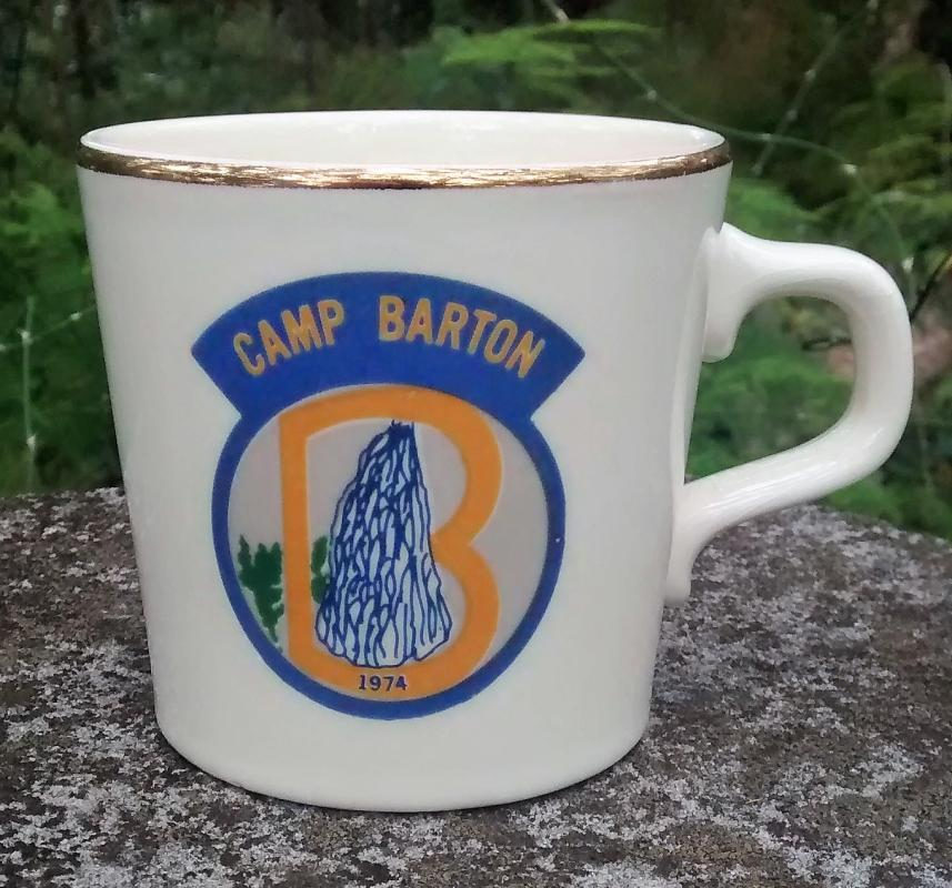 Girl Scout Mug 1974 Camp Barton