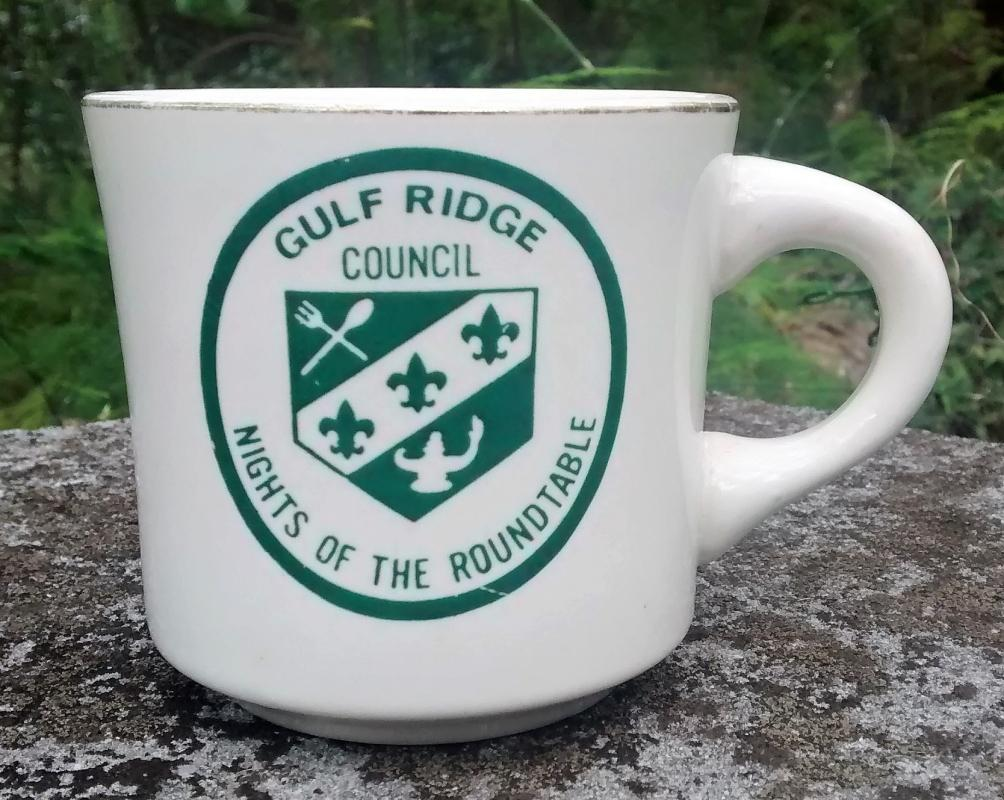 Boy Scout Mug 1970s Gulf Ridge Nights of the Roundtable
