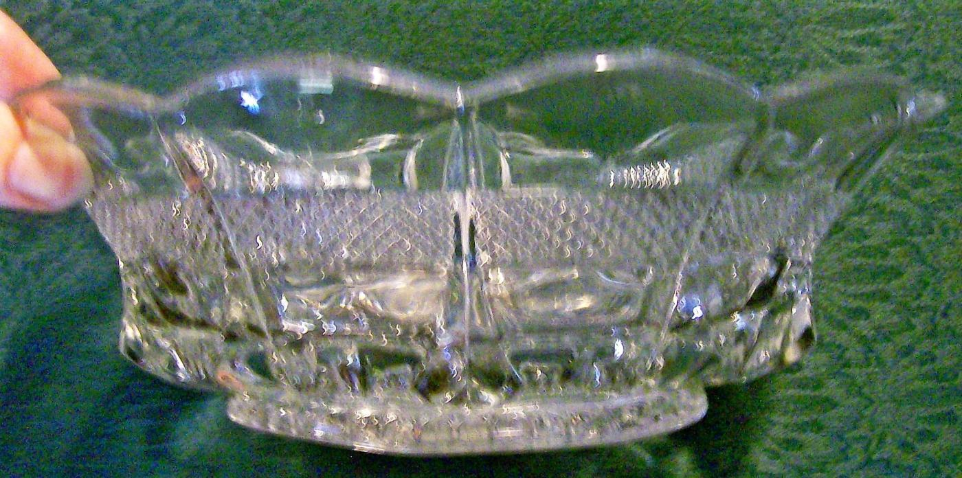 Banded Portland Bowl #15071 Early American Pressed Pattern U.S. Glass Clear