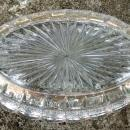 Banded Portland Relish/Oval Dish #15071 EAPG U.S. Glass Clear w/Gold