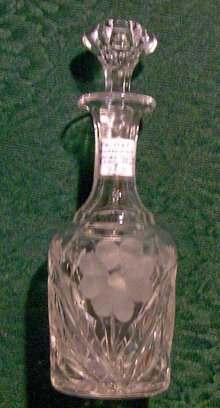 Worcestershire Bottle: Cut & Pressed Clear Glass