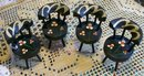 Dollhouse Chair Set of 4: Hand-Painted Windsor Back 1930's-50's