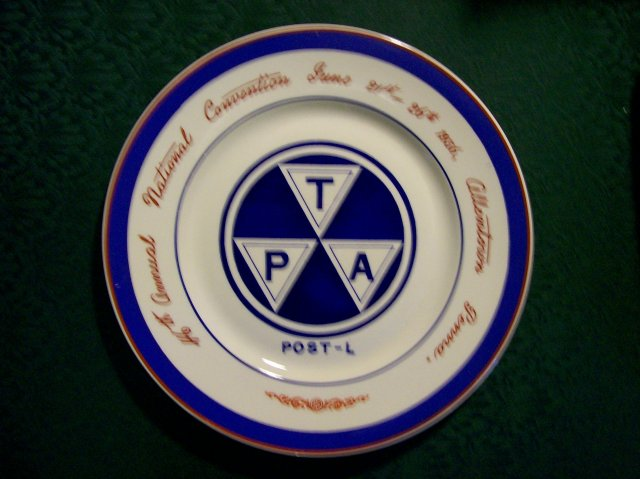 Traveler's Protective Association Convention Ceramic Plate Allentown Pennsylvania 1936