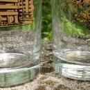 Wilbur Kurtz Atlanta Architecture Glass Bar Tumbler Set/6 Historic Buildings