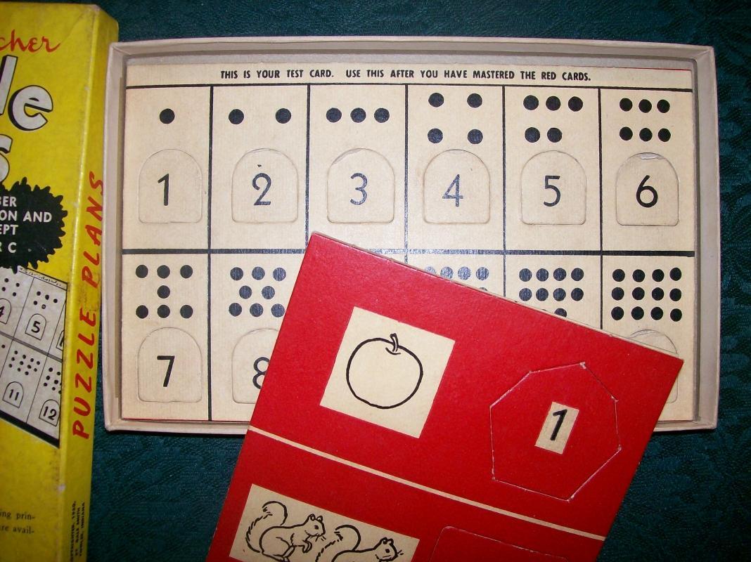 The Magic Teacher Puzzle Plans Set NRC 1950