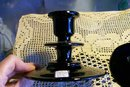 Dugan/Diamond Black Glass Candlestick Pair #625 Ca. 1920's