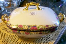 Pouyat Limoges Square Covered Vegetable Bowl