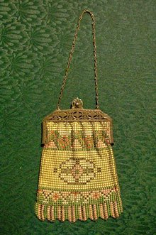 Whiting & Davis Enamelled Mesh Purse