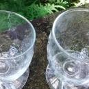 Glacier Express Railway Slanted Wine Glass Pair Swiss Alps