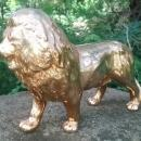 Golden Lion Ceramic Figurine Ca. 1950s 11