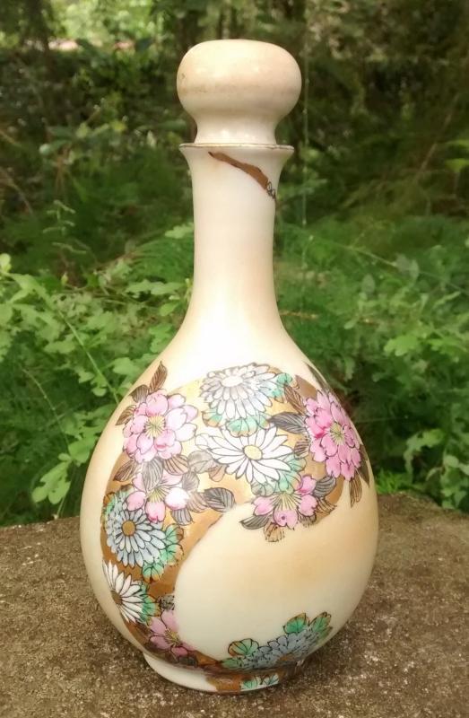 Nippon Perfume Bottle Art Nouveau Porcelain 7.25