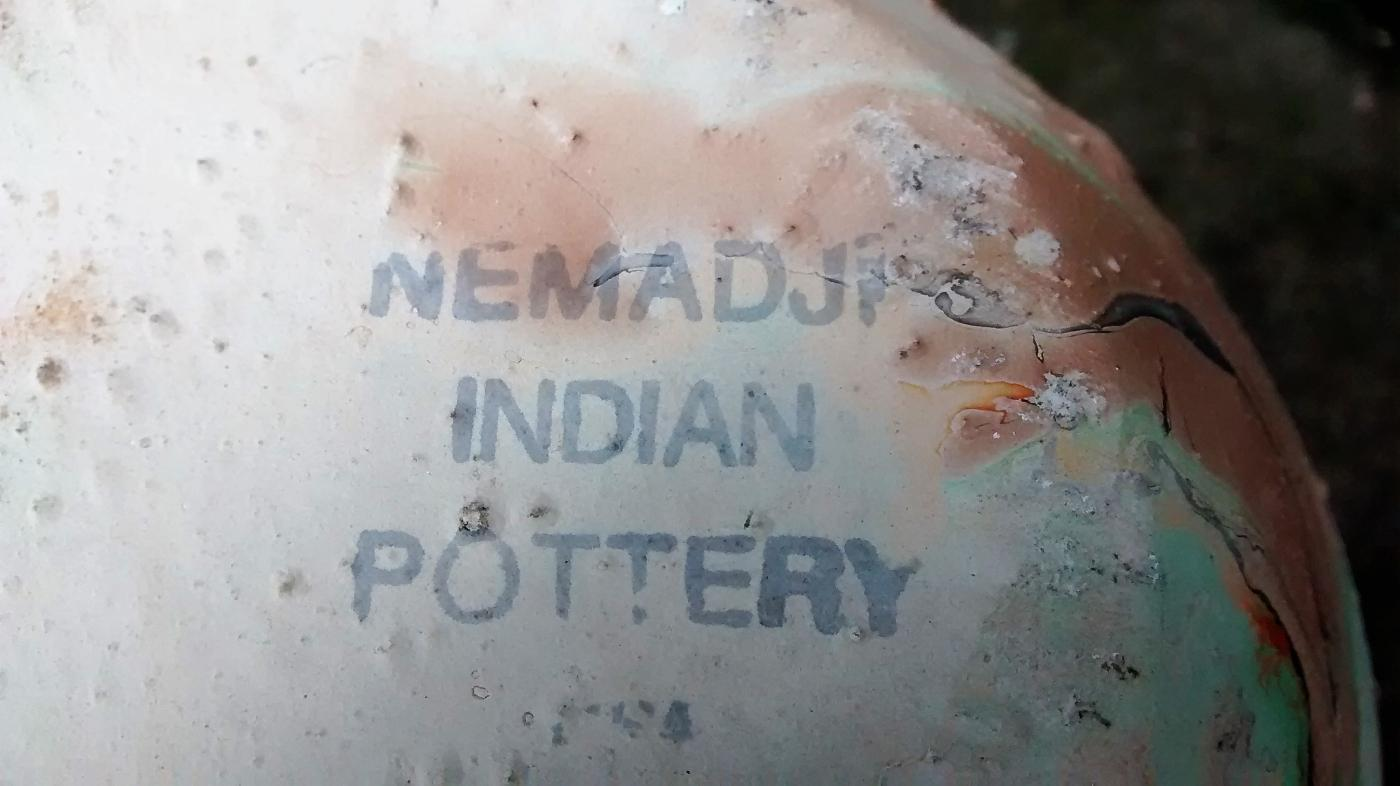 Nemadji Pottery Vase 7.25
