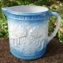 Brush McCoy Avenue of Trees/Woodland Stoneware Pitcher Blue & White
