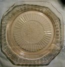 Hocking Mayfair/Open Rose Pink Glass Plate 9.5
