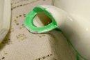 Art Deco Ceramic Stacking 5-Piece Teaset 1930's Japan Cream/Green