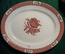 Booth's Rochester Staffordshire Ceramic Platter Ca. 1912 Red/White 16.25