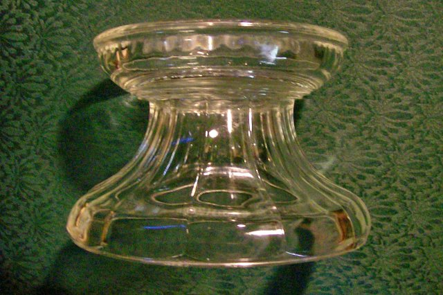 Colonial Flute Clear Glass Punch Bowl Base Ca. 1900