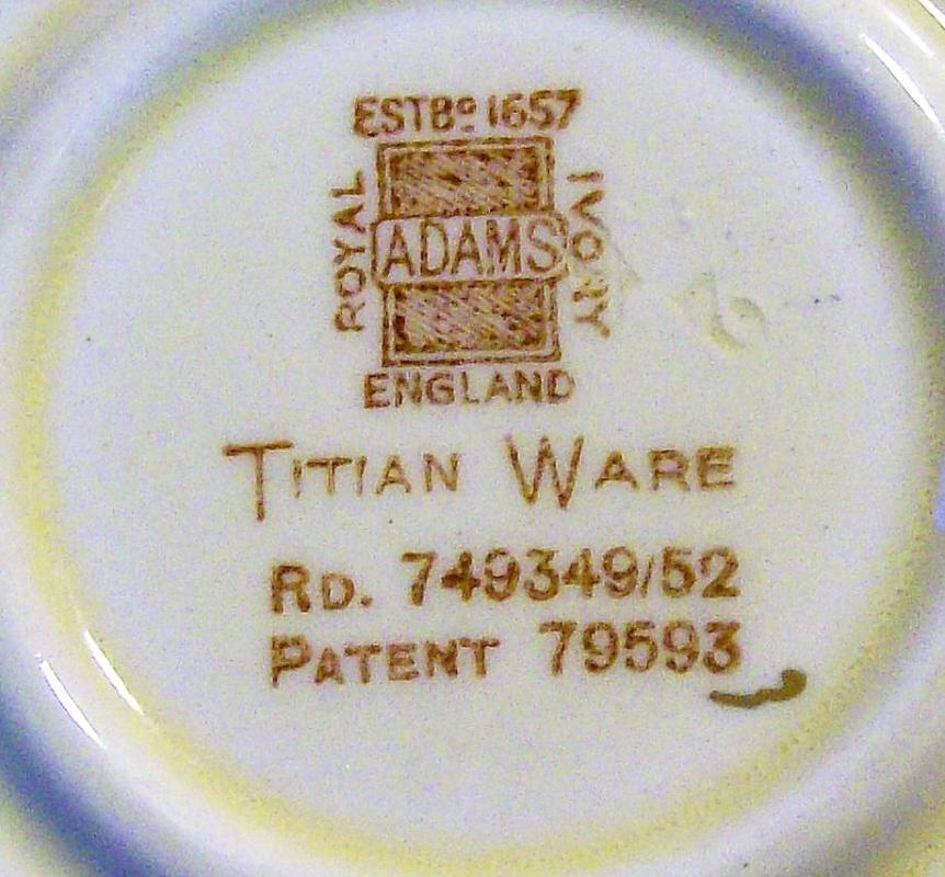 Adams Titian Ware Saucer