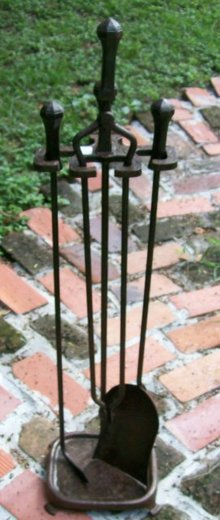 Cutter Mfg. Co.  Arts & Crafts Fireplace Tool Set