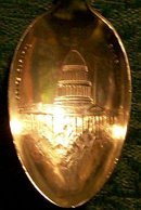 Souvenir Spoon:  Sacramento/ California