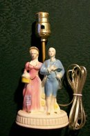 Figural Lamp with Colonial Couple