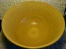 Banded Yellow Ware Ceramic Mixing Bowl:  13