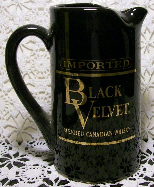 Advertising Pitcher:  Black Velvet Blended Canadian Whisky