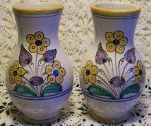 Slovakia Keramika/ Modra Jug Vase Pair