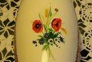 Ukranian Poppy Decorated Vase