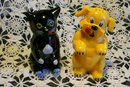 Ken-L Ration Fifi & Fido Advertising S&P Shakers Cat & Dog