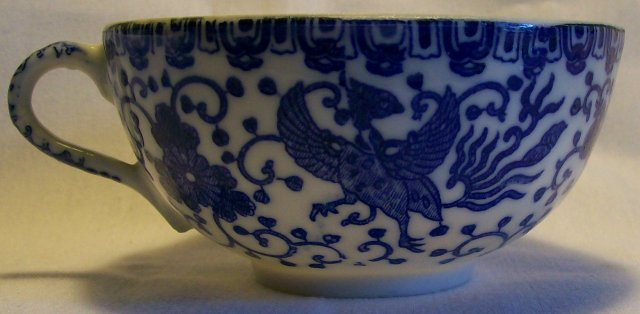 Pair of Phoenix Bird Cups