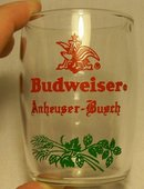 Budweiser Barrel Taster Glass: 1950's: Set of 4