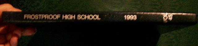 Frostproof, Florida School Yearbook:  1993 Big Red