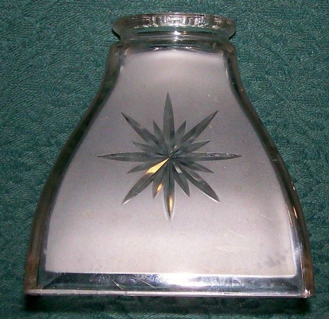 Jefferson Glass Lamp Shade : Early 1900's Sunburst #974