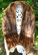 Mink Stole Fur Wrap 1940's-50's Morin Canada