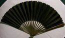 Handheld Fan: Carved Bamboo & Black Silk