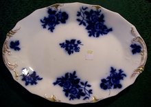 Grindley Gironde Flow Blue Ceramic Platter 1897 17.25