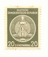 German Democratic Republic Official  Stamp 022a Uncancelled