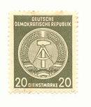 German Democratic Republic Official  Stamp 022a Uncanceled