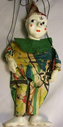 Peter Puppet Clown Marionette Circa 1950's